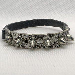 2/$20 Spiked Stretch Bracelet Silver & Black